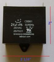 Generator Capacitor CBB61 24uF 250VAC