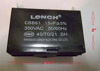 Generator Capacitor CBB61 15uF 350VAC