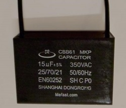 Generator Capacitor                 CBB61 15uF 350VAC Wired