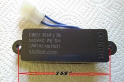 CBB61 25uf 350VAC                 wired , generator part