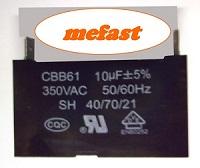 CBB61 10uF 350VAC Capacitor