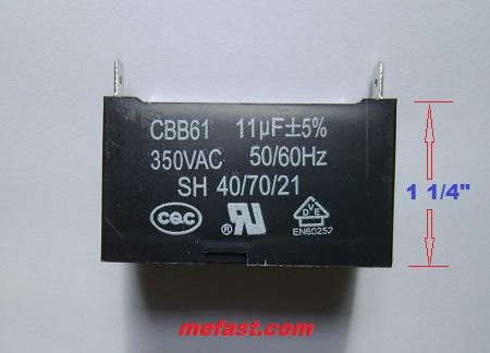 Generator Capacitor CBB61                 11uF 350VAC