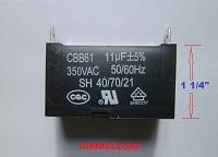 CBB61 Generator Capacitor 11uF 350VAC Lonch