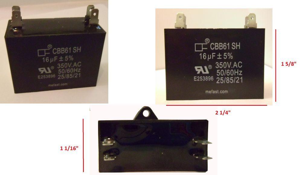 CBB61 16uF 350VAC 4 Terminal Pump Capacitor Shipping             from USA