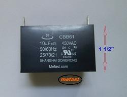 CBB61 10uF 450VAC                   capacitor , generator parts