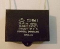 Generator Capacitor                     CBB61 22uF 450VAC