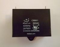 CBB61 45uF 350 VAC 50/60Hz , generator                       capacitor