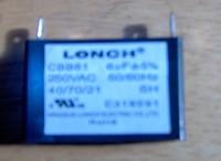 Lonch generator capacitor 6uF 350VAC