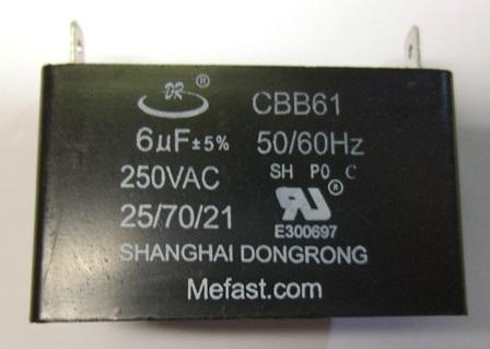 CBB61 Capacitor 6uF 250VAC Generator Capacitor
