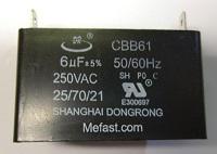 Capacitor E318591LONCH 6uF 250VAC