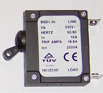 Generator               Circuit Breaker 15 Amp