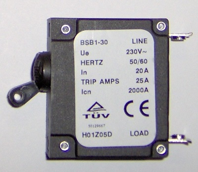 BSB1-30               Series In 20A Trip Amps 25A