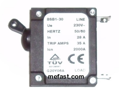 Generator                 Circuit Breaker BSB1-30 Series 28a 35A trip