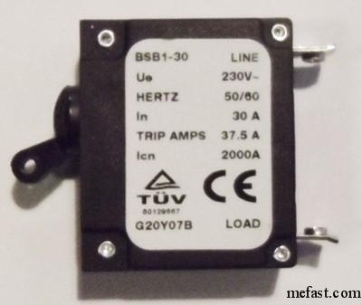 Generator                 Circuit Breaker 30 AMP