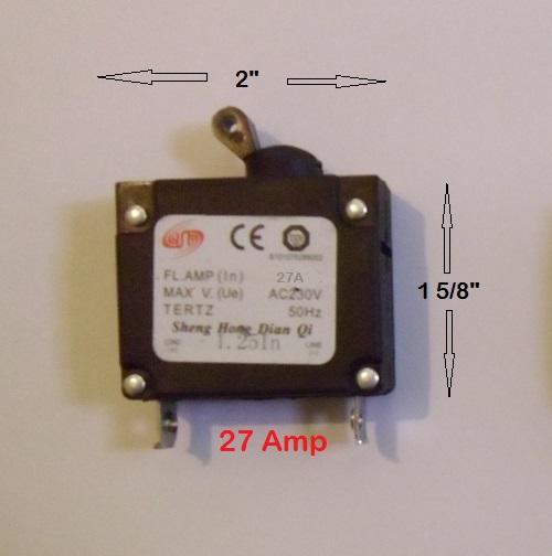 Sheng                   Hong 27 Amp Circuit Breaker