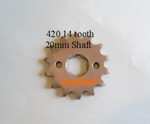 420 Sprocket 14 tooth 20mm shaft