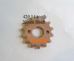 420 Sprocket 14 tooth 20mm shaft